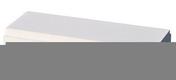 Lisse balustrade OCEANE plate ép.7,5cm larg.20cm long.49,5cm coloris blanc cassé - Plaque de plâtre prépeinte SYNIA déco 4BA13 ép.12,5mm larg.1,20m long.3,60m - Gedimat.fr