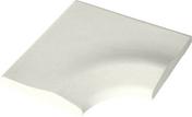Margelle piscine d'angle intérieur DECO 50x50x33cm rayon.15cm coloris blanc cassé - Margelles - Aménagements extérieurs - GEDIMAT