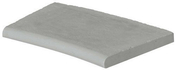 Margelle piscine courbe BERGERAC long.48cm larg.31cm rayon.15cm coloris gris - Adaptateur ABS 3/4''x1/2'' pour flexible - Gedimat.fr