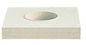 Embase carrée pour colonne cannelée diam.35cm dom.52x52cm haut.8,5cm coloris blanc - Bande de chant ABS ép.1mm larg.23mm long.25m Wenge - Gedimat.fr