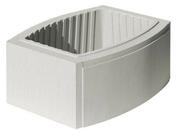 Elément de pilier OVALIS 38x(28/38)cm haut.20cm coloris blanc cassé - Enduit de parement traditionnel PARDECO TYROLIEN sac de 25kg coloris O07 - Gedimat.fr