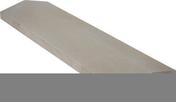 Chaperon CLASSIQUE 2 pentes haut.4cm larg.30cm long.99cm coloris gris - Coude laiton égal pour raccord tuyau diam.32mm - Gedimat.fr