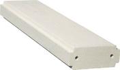 Lisse plate pour balustrades gamme CLASSIQUE long.99,5cm larg.24,5cm ép.10cm coloris blanc - Verre synthétique pour intérieur ép.5mm larg.50cm long.1,00m - Gedimat.fr