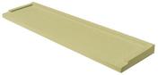 Seuil de porte CLASSIQUE ép.4,5cm larg.33,5cm long.90cm coloris ton pierre - Manchon laiton brut femelle-femelle égal 270AB à butée intérieure diam.12x17mm 1 pièce - Gedimat.fr
