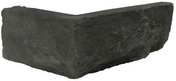 """Plaquette d'angle MUROK STRATO long.1,30m coloris gris anthracite - Plaquette de parement LAVA format """"Z"""" Dim.15 x 55-60 x 1-2 cm ardoise - Gedimat.fr"""