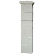 Pilier complet CHAUMONT dim.35x35cm haut.1,86m coloris blanc - Doublage isolant plâtre + polystyrène PREGYSTYRENE TH32 ép.10+130mm larg.1,20m long.2,60m - Gedimat.fr