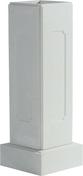Trumeau avec embase pour balustrade haut.73cm gamme CLASSIQUE dim.32,5x32,5cm haut.1,025m coloris blanc - Raccord 2 pièces coudé laiton/cuivre à écrou prisonnier diam.26x34mm pour tube diam.22mm 1 pièce - Gedimat.fr