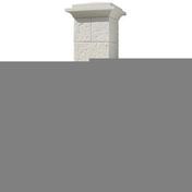 Pilier complet CHEVERNY dim.38x38cm haut.1,92m coloris blanc - Brique terre cuite linteau-chaînage complémentaire POROTHERM T20 ép.20cm haut.19cm long.50cm - Gedimat.fr