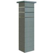 Pilier complet STEEL IN dim.39x39cm haut.1,72m coloris gris nacre - Tuile à douille DC12 diam.150mm coloris pastel occitan - Gedimat.fr