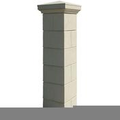 Pilier complet AMBOISE dim.40x40cm haut.1,9m coloris champagne - Fenêtre PVC blanc CALINA isolation totale de 120 mm 2 vantaux oscillo-battant haut.1,75 larg.1,00m - Gedimat.fr