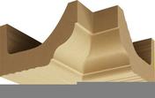 Corniche d'angle intérieur/rentrant DOUCINE sans joint 10x10cm haut.20cm coloris ton pierre - Habillages de façade - Matériaux & Construction - GEDIMAT