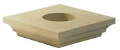 Chapiteau carré 42x42cm coloris ton pierre - Tuile et 1/2 PLATE TRADITION 17x27 coloris rustique - Gedimat.fr