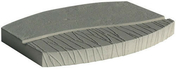 Pas japonais pierre reconstituée EDEN dim.39x30cm ép.3,2cm coloris gris - Pas japonais - Aménagements extérieurs - GEDIMAT