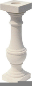 Balustre BIARRITZ OCEANE ronde haut.59cm diamètre 16cm coloris blanc cassé - Manchon réduit à sertir pour tubes multicouches NICOLL Fluxo diam.32/20mm - Gedimat.fr