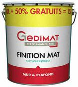 Peinture chantier GEDIMAT acrylique pot de 10L + 50% gratuit ton mat - Peintures - Peinture & Droguerie - GEDIMAT