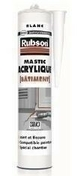 Mastic acrylique bâtiment cartouche 300ml blanc - Porte-fenêtre bois exotique lamellé collé sans aboutage isolation totale 120mm 1 vantail ouvrant à la française vitrage transparent gauche tirant haut.2,05m larg.80cm - Gedimat.fr