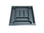 Range-couverts recoupable en ABS gris prof.47cm larg.50,8cm - Rangements - Paniers - Cuisine - GEDIMAT