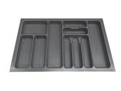 Range-couverts recoupable en ABS gris prof.47cm larg.70,8cm - Rangements - Paniers - Cuisine - GEDIMAT