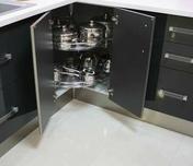 Panier fil pour meuble angle bas en L 270° - Rangements - Paniers - Cuisine - GEDIMAT