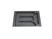 Range-couverts recoupable en ABS gris prof.47cm larg.30,8cm - Rangements - Paniers - Cuisine - GEDIMAT