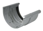 Jonction de dilatation pour gouttière PVC demi-ronde LG33 coloris gris - Jonction de dilatation pour gouttière PVC demi-ronde LG25 coloris gris - Gedimat.fr