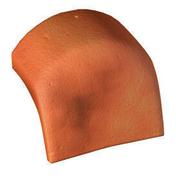Ecusson de début pour tuile de rive ronde PLEIN CIEL coloris rouge sienne - Couvre joint dilatation TOFFOLO modèle angle en aluminium ép.5mm long.3m larg.6cm - Gedimat.fr
