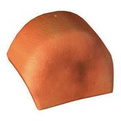 Ecusson de fin pour tuile de rive ronde PLEIN CIEL coloris dune sable - Mamelon laiton brut réduit 245 mâle diam.40x49mm / mâle diam.33x42mm 1 pièce avec lien - Gedimat.fr