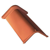 Faîtière angulaire MARSEILLE de 40 angle 90° coloris brun rustique - Tuile CANAL S coloris rethaise - Gedimat.fr