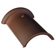 Faîtière demi-ronde de 33 long.33cm coloris brun masse - Chevêtre ULYSSE mur section 15x16 cm long.1.80m - Gedimat.fr