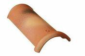Faîtière demi-ronde de 50 à recouvrement coloris rouge - Poutre VULCAIN section 12x60 cm long.8.50 pour portée utile de e 7,6 à 8,10m - Gedimat.fr