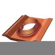 Tuile à douille DUROVENT pour tuile PERSPECTIVE universelle diam.110 à 150mm coloris ardoise - About d'arêtier de 42 à recouvrement coloris brun - Gedimat.fr
