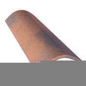 Faîteau courbe de 50 en terre cuite coloris rouge - Panneau de Particule Surfacé Mélaminé (PPSM) ép.8mm larg.2,07m long.2,80m Chêne Maryland finition Velours Bois poncé - Gedimat.fr