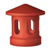 Lanterne terre cuite diam.int.100mm coloris rouge sienne - Fronton de rive ronde pour faîtière à emboîtement de 50cm TERREAL coloris vieux midi - Gedimat.fr