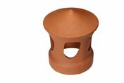 Lanterne terre cuite FRANCHE-COMTE diam.150mm coloris rouge - Maxi-linteau en terre cuite pour mur de 20cm ép.20cm long.2,60m hors tout - Gedimat.fr