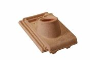 Tuile à douille CHARTREUSE/REGENCE diam.90 mm coloris terron - Pergola en kit alu laqué gris 7016 3x3m - Gedimat.fr
