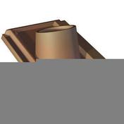 Tuile à douille LOSANGEE diam.120mm coloris rouge - Bois Massif Abouté (BMA) Sapin/Epicéa traitement Classe 2 section 75x200 long.10m - Gedimat.fr