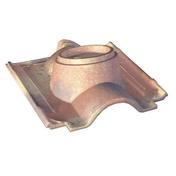 Tuile à douille ABEILLE diam.150mm coloris rose - Tuile en terre cuite CANAL MIDI PATINEE coloris toit de récupération - Gedimat.fr