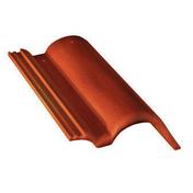 Tuile de rive ronde droite PLEIN CIEL coloris rouge sienne - Faîtière ventilation TBF coloris vieilli gascogne - Gedimat.fr