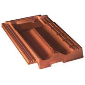 Tuile en terre cuite MARSEILLE coloris Valmagne cuivre - Rive à rabat droite SIGNY à emboitement coloris rouge vieilli - Gedimat.fr