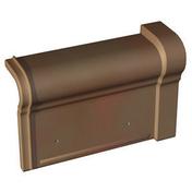 Rive universelle de 33 gauche à recouvrement coloris valmagne cuivre - Coude laiton fer/cuivre 90GCU femelle diam.12x17mm à souder diam.12mm - Gedimat.fr