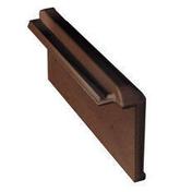 Rive à rabat droite pour tuile CHARTREUSE et REGENCE coloris brun masse - Feuille de stratifié HPL avec Overlay ép.0.8mm larg.1,30m long.3,05m décor Chêne Oakland finition Mat - Gedimat.fr