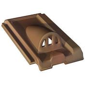 Châtière grillagée en terre cuite pour tuile LOSANGEE coloris brun rustique - Bloc de béton cellulaire chainage d'angle long.60cm haut.20cm ép.40cm - Gedimat.fr