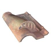 Tuile châtière grillagée ROMANE en terre cuite coloris silvacane littoral - Porte de service isolante DIEPPE en PVC ISO120 blanc gauche poussant haut.2,00m larg.80cm - Gedimat.fr