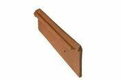 Rive standard droite à emboitement coloris rouge - Tuyau de rallonge diam.100mm hauteur 40cm pour tuiles à douille TERREAL coloris castelviel - Gedimat.fr