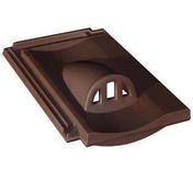 Tuile châtière grillagée FRANCHE-COMTE coloris rouge - Chapeau de cheminée béton ASP VENTYL int.30x30cm ext.54x54cm - Gedimat.fr
