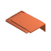 Tuile de rive droite SIGNY coloris chaume vieilli - About à emboîtement de faîtière ronde ventilée pour tuiles TERREAL coloris rouge - Gedimat.fr