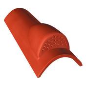 Tuile châtière grillagée CANAL MIDI en terre cuite coloris silvacane littoral - Tuile à douille CANAL diam.150mm coloris rouge - Gedimat.fr