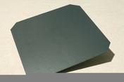 Ardoise ARTOIT NATURA 40x40 N°5 coloris noir - Porte d'entrée PVC GALLUS avec isolation totale de 100 mm gauche poussant haut.2,00m larg.80cm blanc - Gedimat.fr