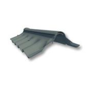 Faitière charnière à bords ondulés pour plaques ondulées COLORONDE 5 ondes coloris noir graphite - Prélinteau en béton SR5 ép.5cm larg.15cm long.1,40m - Gedimat.fr