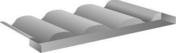 Raccord MAWA en zinc pour plaque sous tuile 230 - Kit rangement colonne coloris blanc - Gedimat.fr